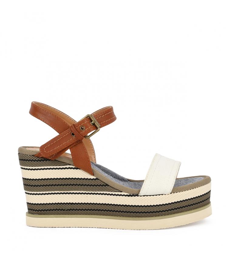 Comprar Chika10 Sandalias Nila 03 blanco -Altura cuña: 8cm-