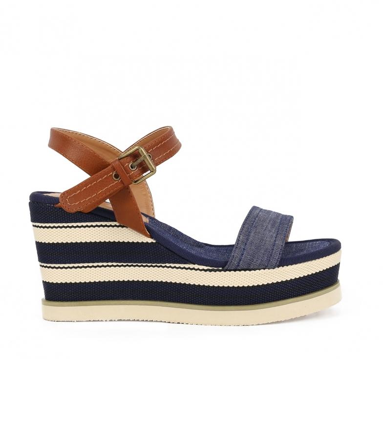 Comprar Chika10 Sandalias Nila 03 marino -Altura cuña: 8cm-
