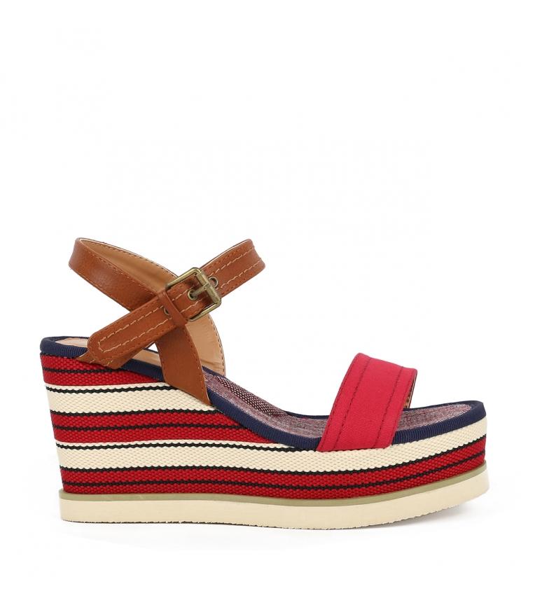 Comprar Chika10 Sandali Nila 03 rosso - Altezza cuneo: 8cm-