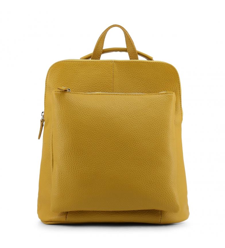Comprar Made In Italia Mochila de piel ISADORA yellow -29x31x13cm-