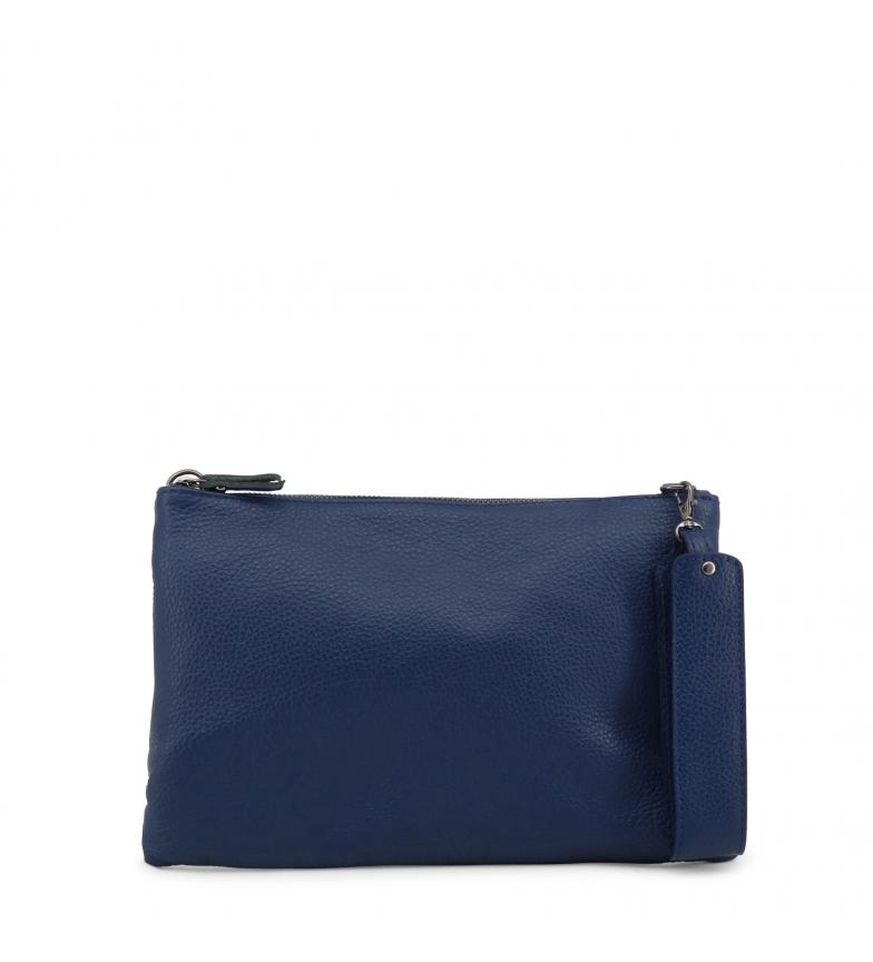 Comprar Made In Italia Clutch de piel MIRANDA blue -30x20x2cm-