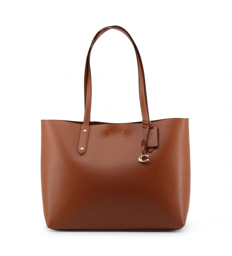 Comprar Coach Leather shopping bag 69450 brown -40x29x15cm