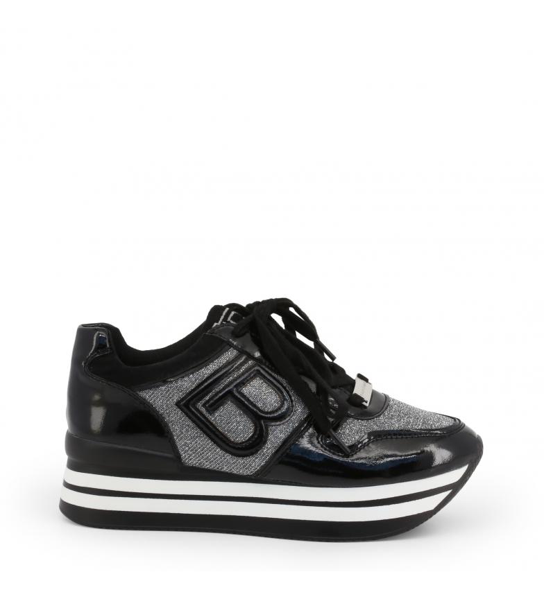 Comprar Laura Biagiotti Sneakers 5708-19_PATENT preto - Plataforma alta: 5cm