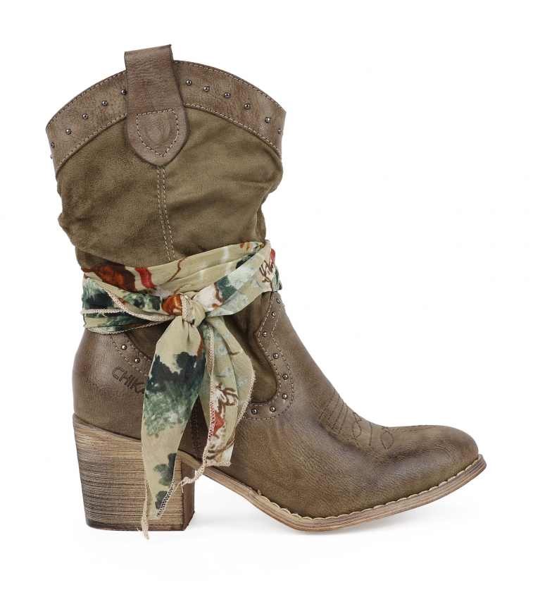Comprar Chika10 Lily Boot 01 taupe -Heel height: 7cm