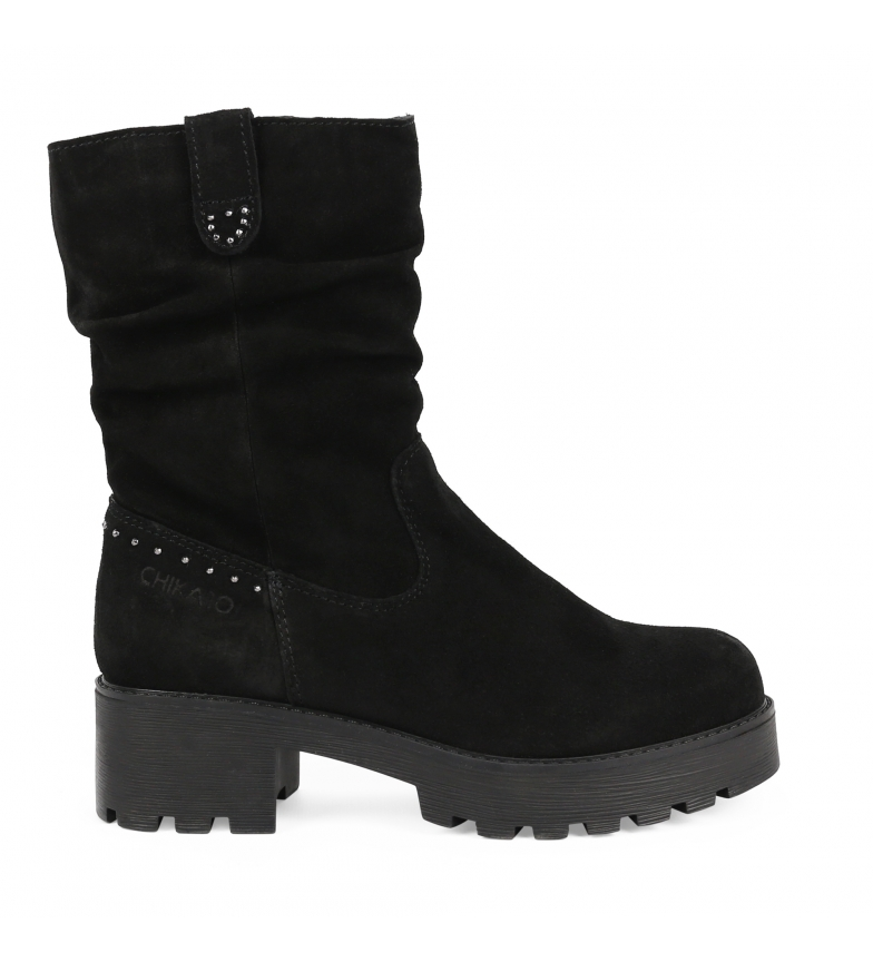 Comprar Chika10 Leather boot Leonor 08 black