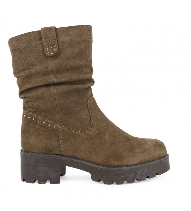 Comprar Chika10 Leather boot Leonor 08 taupe