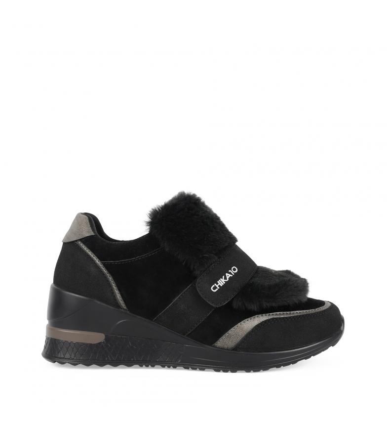 Comprar Chika10 Zapatillas Selena 04 negro -Altura cuña: 6cm-