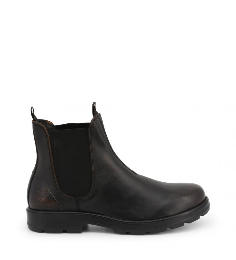 Comprar Docksteps Bottes en cuir JASPER_60 noir Hauteur de la plate-forme : -3cm