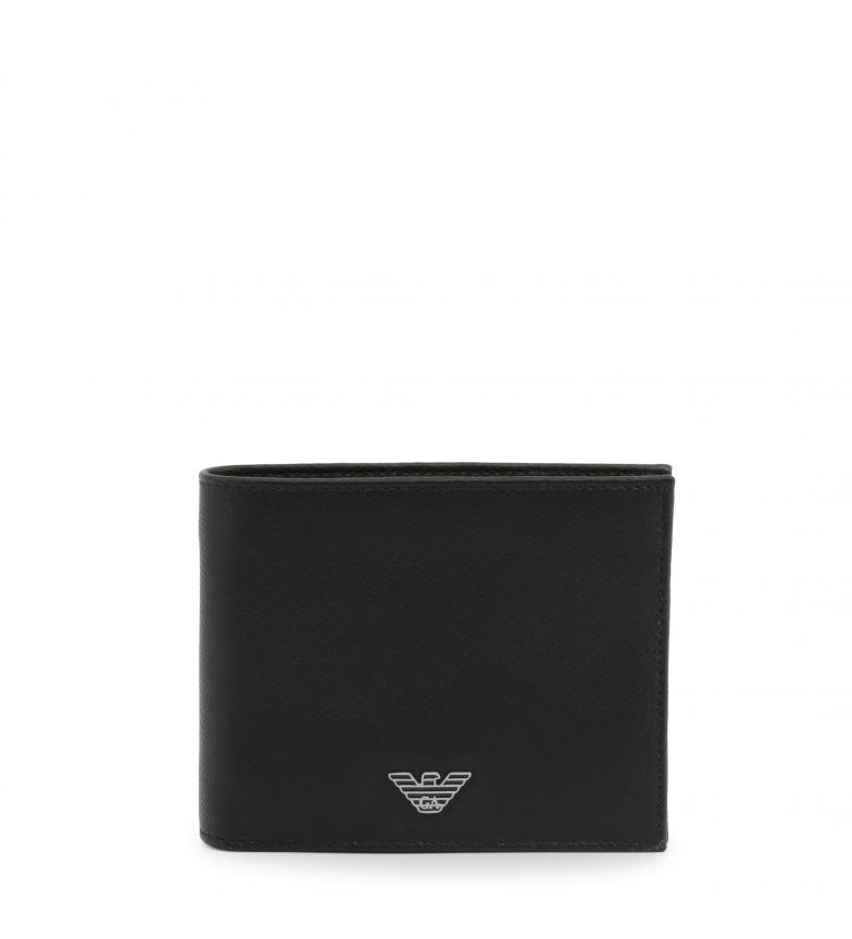 Comprar Emporio Armani Portafogli in pelle YEM176_YAQ2E nero -12x10x2cm-