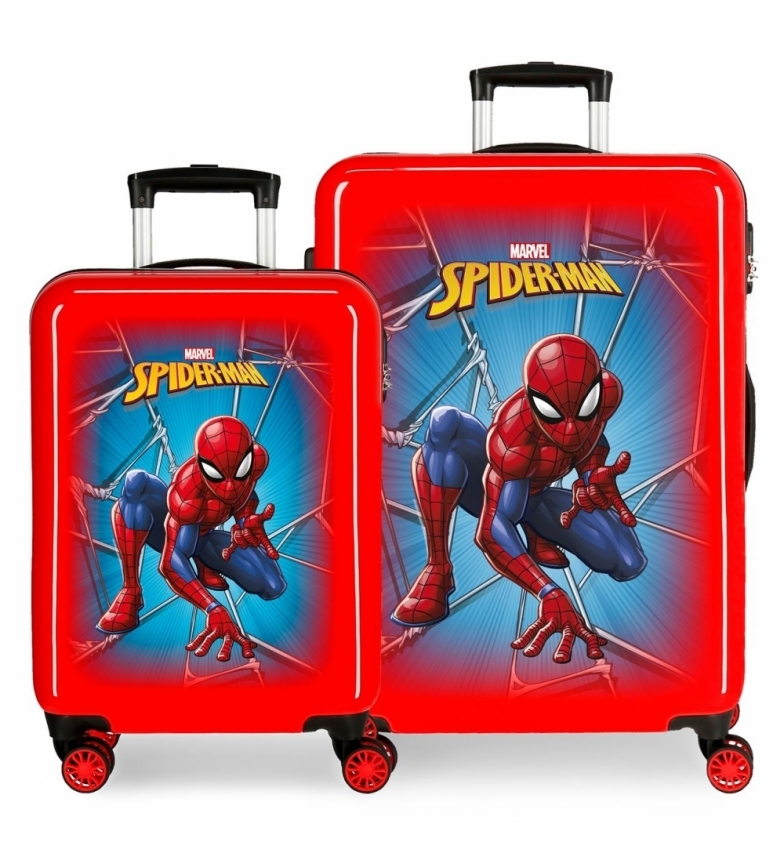 Comprar Spiderman Set di valigie Spiderman nere rigide rosse -38x55x20cm / 48x68x26cm-