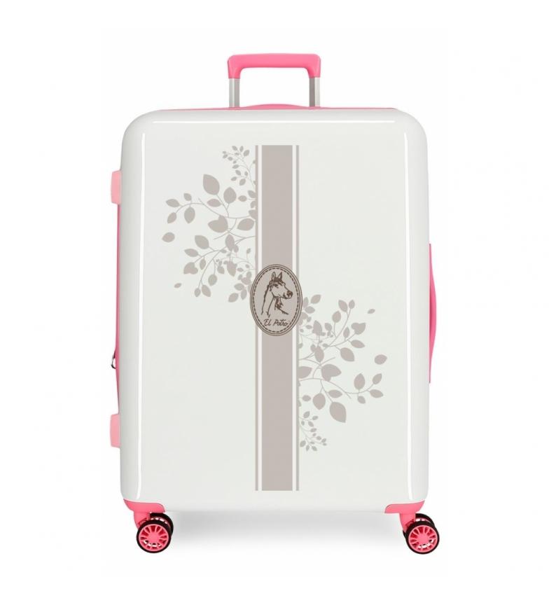 Comprar El Potro Valigia media El Potro Galan rigida Vanner rosa, bianco -70x48x26cm-