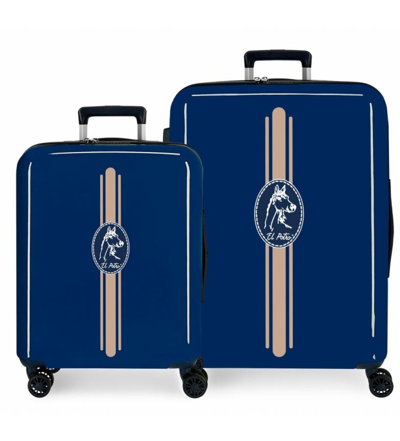 Comprar El Potro Set of suitcases El Potro Galán rigid Frisón blue -55x40x20cm/70x48x26cm