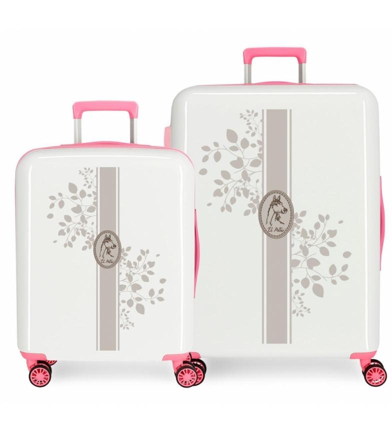 Comprar El Potro Juego de maletas El Potro Galán rígidas Vanner rosa -55x40x20cm/70x48x26cm-