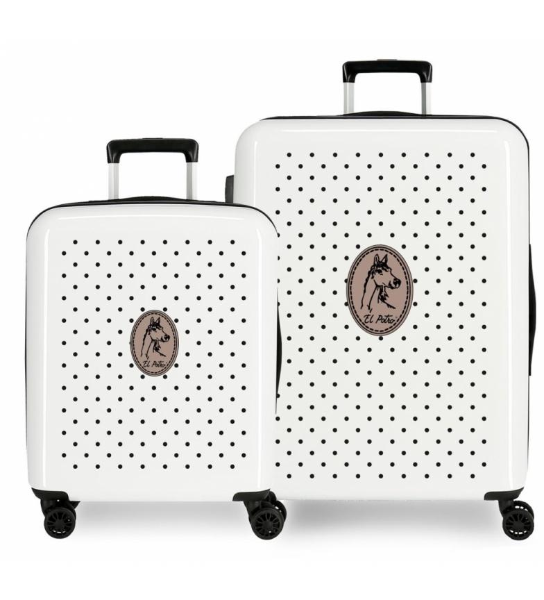 Comprar El Potro Set of suitcases El Potro Galán rigid Teke black -55x40x20cm/70x48x26cm