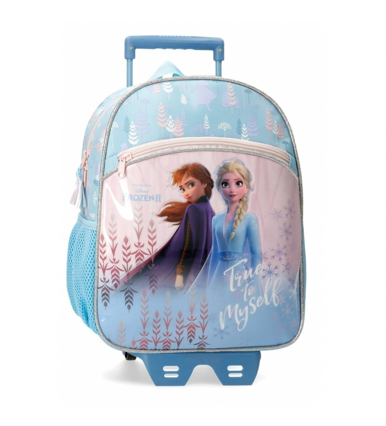 Comprar Frozen Frozen True to Myself Preschool Backpack with blue trolley -27x33x11cm