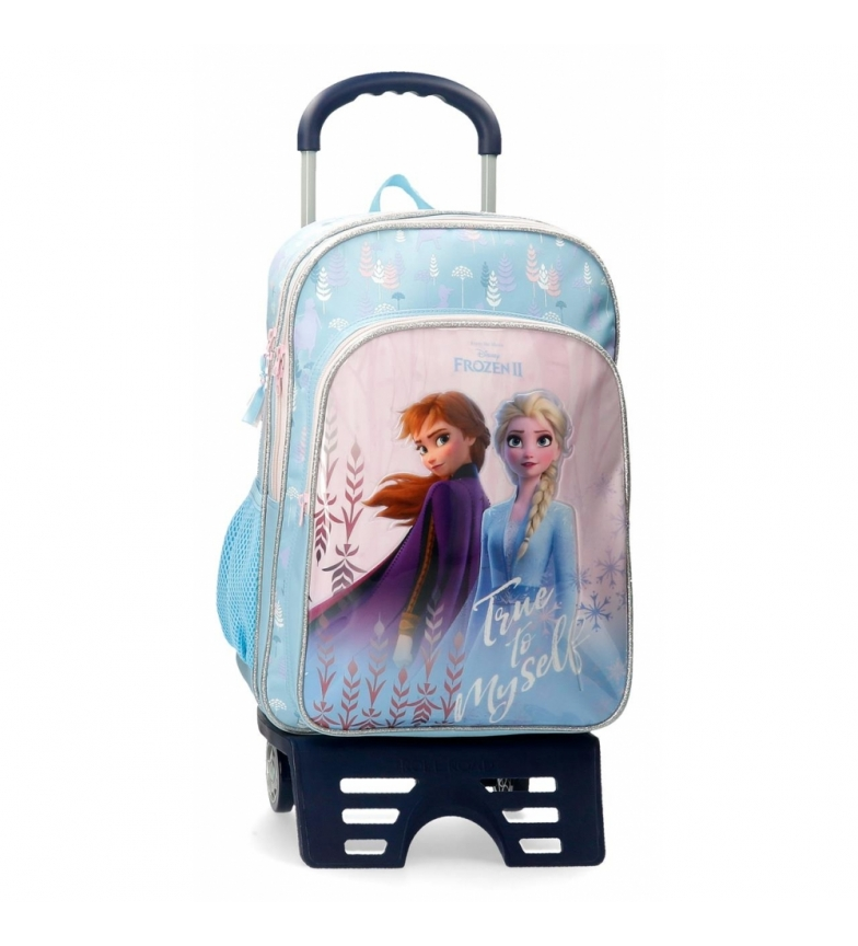 Comprar Frozen Fiel a mim mesmo Mochila escolar congelada com carrinho azul -31x42x13cm-