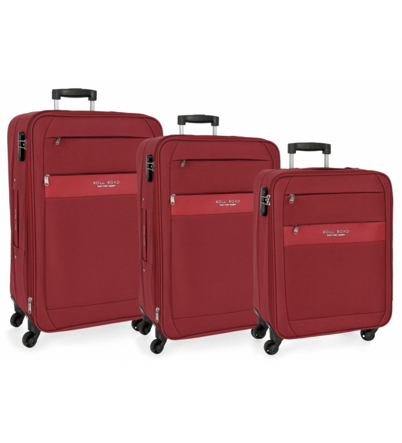 Comprar Roll Road Set of suitcases Roll Road Abey Red -40x55x20cm/43x68x26cm/48x78x29cm