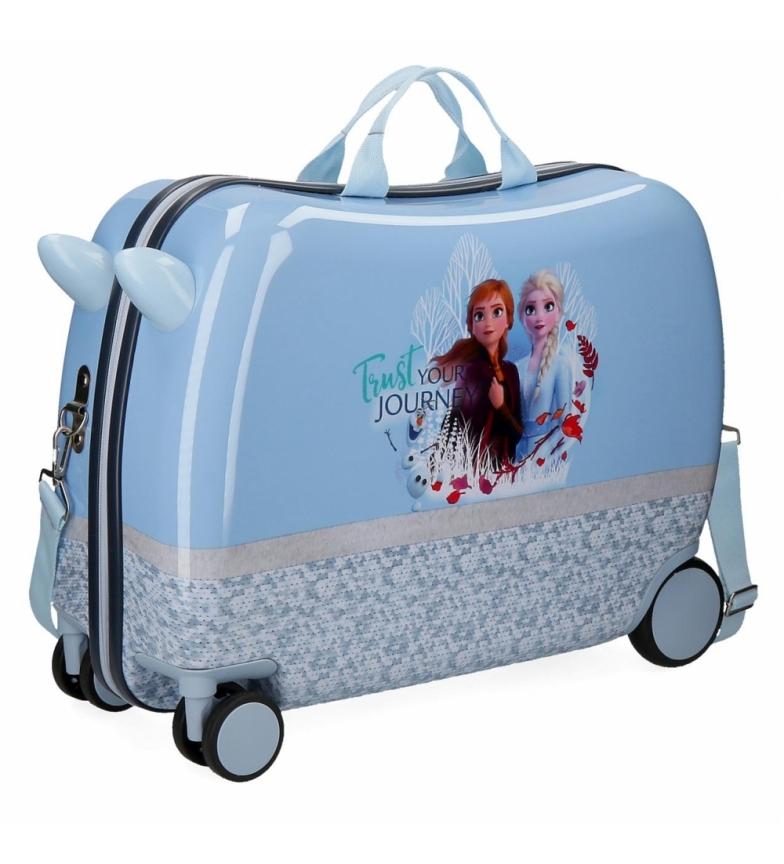 Comprar Frozen Valise enfant Esprit de la nature glacé avec roues multidirectionnelles bleues -38x50x20cm