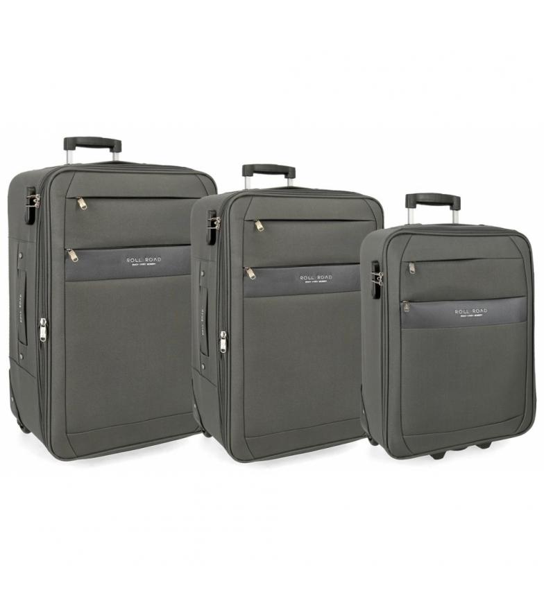 Comprar Roll Road Grey Roll Road Carter luggage set -40x55x20cm/43x66x24cm/48x76x28cm