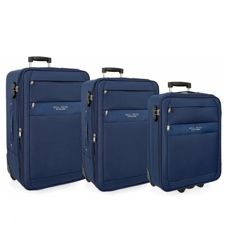 Comprar Roll Road Set of suitcases Roll Road Carter blue -40x55x20cm/43x66x24cm/48x76x28cm
