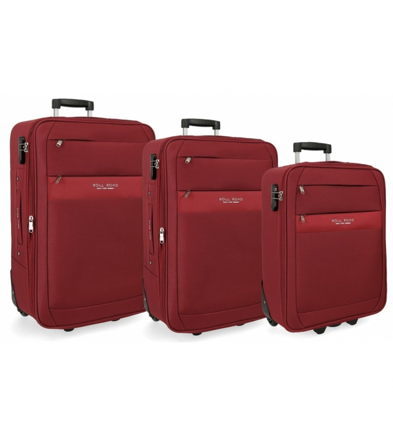 Comprar Roll Road Set of suitcases Roll Road Carter red -40x55x20cm/43x66x24cm/48x76x28cm