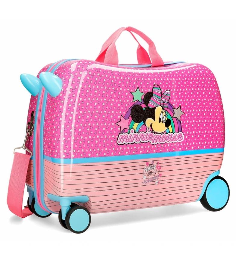 Comprar Minnie Children's suitcase Minnie Pink Vibes with multidirectional wheels -38x50x20cm