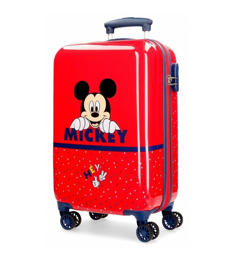 Comprar Mickey Cabine caso Happy Mickey vermelho rígido -34x55x55x20cm