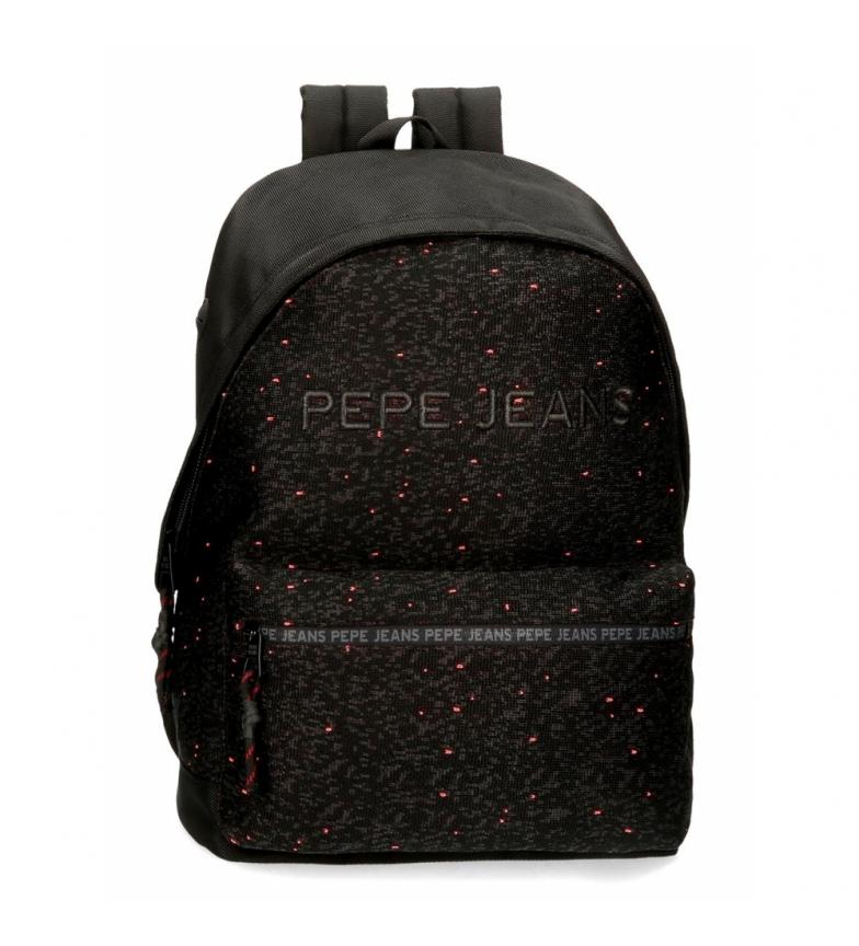 Comprar Pepe Jeans Mochila Pepe Jeans Hike para portátil adaptable negra -31x42x17.5cm-