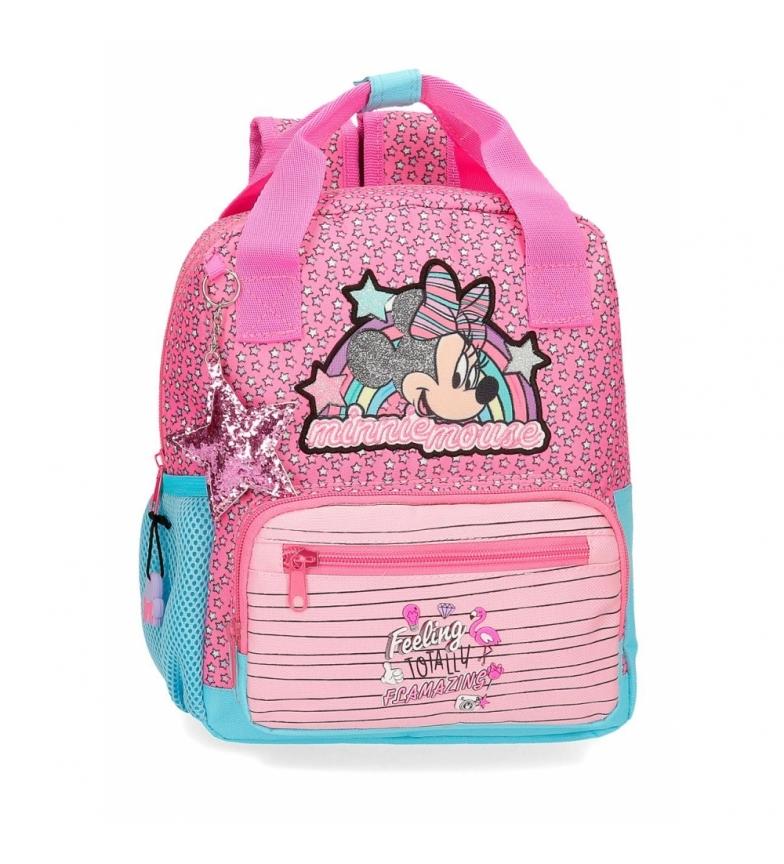Comprar Minnie Mochila Minnie Pink Vibes Preescolar rosa -23x28x10cm-