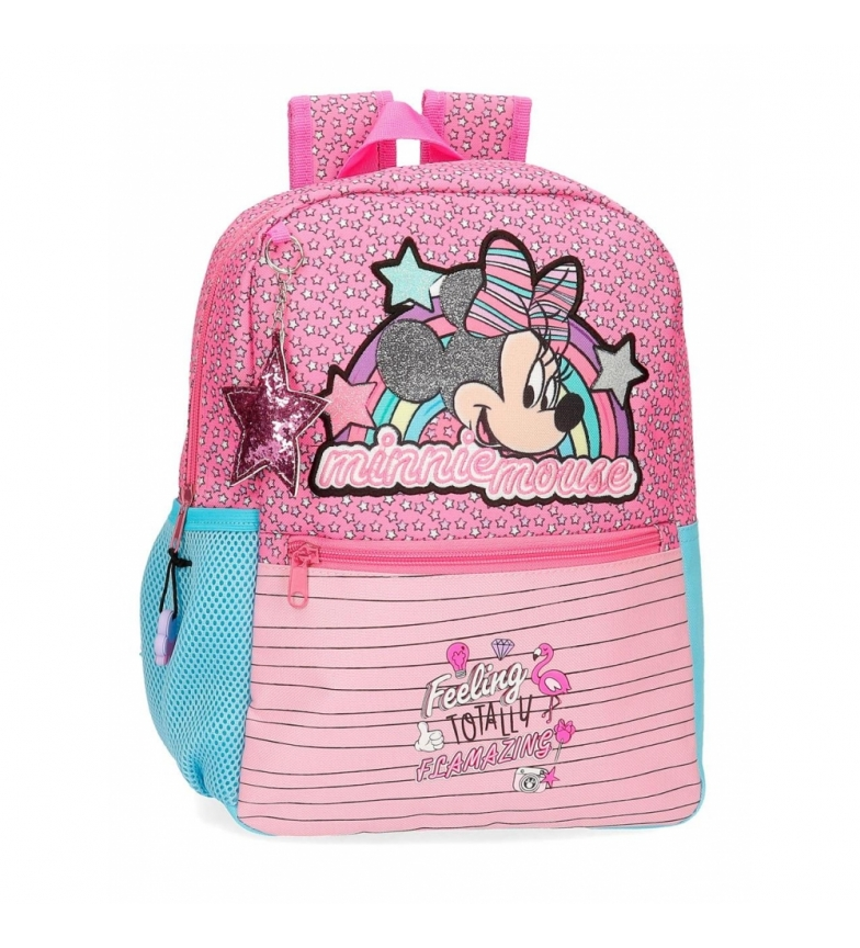Comprar Minnie Minnie Pink Vibes backpack adaptable to pink trolley -25x32x12cm