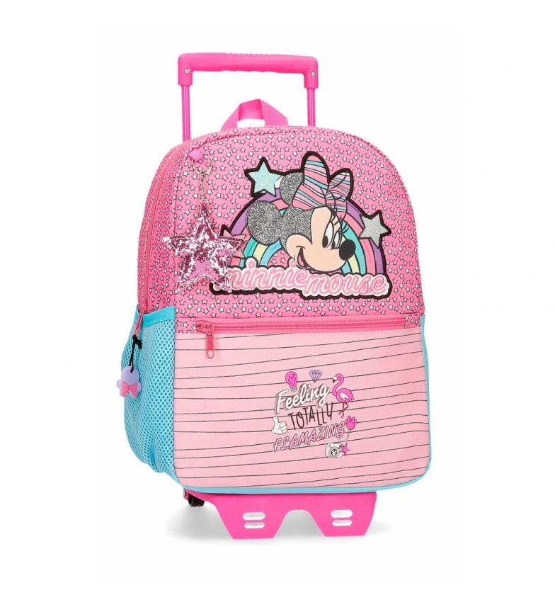 Comprar Minnie Sac à dos Minnie Pink Vibes avec chariot rose -25x32x12cm