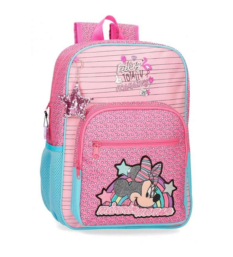Comprar Minnie Mochila Minnie Pink Vibes adaptable a carro rosa -30x38x12cm-