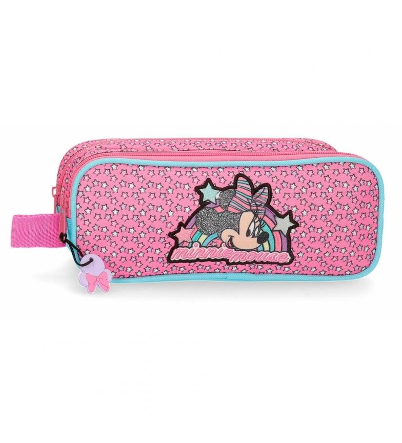 Comprar Minnie Case Minnie Pink Vibes due scomparti rosa -23x9x7cm-
