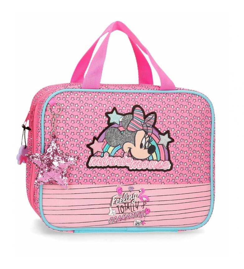 Comprar Minnie Neceser Minnie Pink Vibes adaptable a trolley rosa -25x20x11cm-