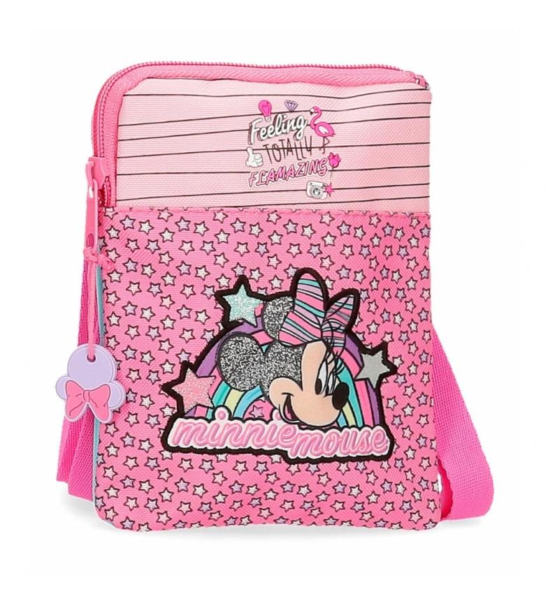 Comprar Minnie Borsa a tracolla Minnie Pink Vibes piatta rosa -13x16,5x1,5cm-