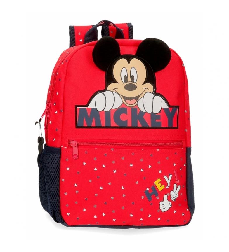 Comprar Mickey Mochila Mickey Feliz vermelho -25x32x32x12cm