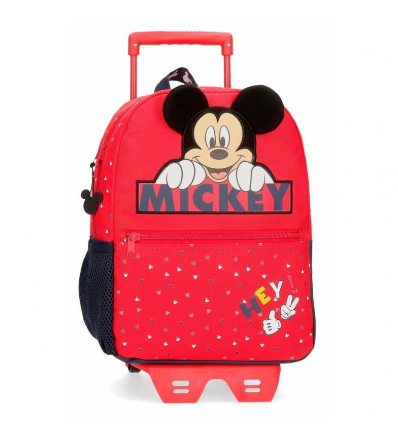 Comprar Mickey Mochila Mickey Feliz com carrinho -25x32x12x12cm