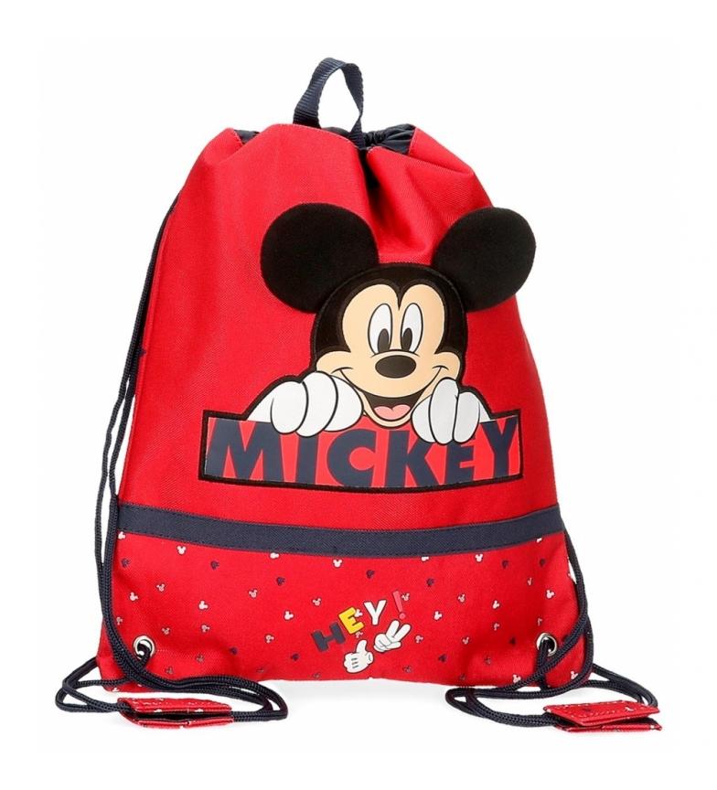 Comprar Mickey Happy Mickey saco snack vermelho -27x34x34x0.5cm