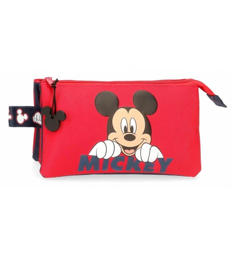 Comprar Mickey Trois compartiments Happy Mickey étui rouge -22x12x5x5cm