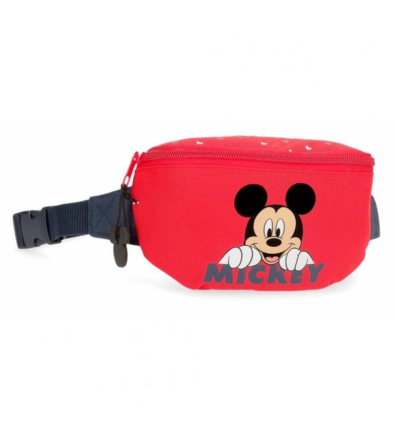 Comprar Mickey Riñonera Happy Mickey rojo -27x11x6.5cm-
