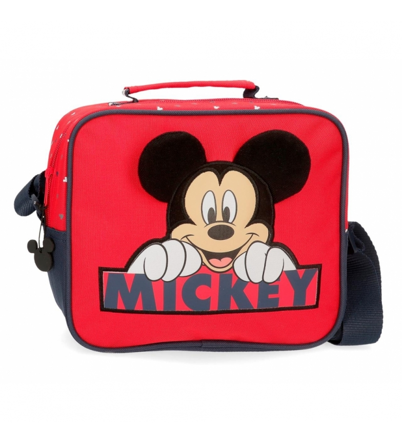 Comprar Mickey Neceser Happy Mickey adaptable con bandolera rojo -23x20x9cm-