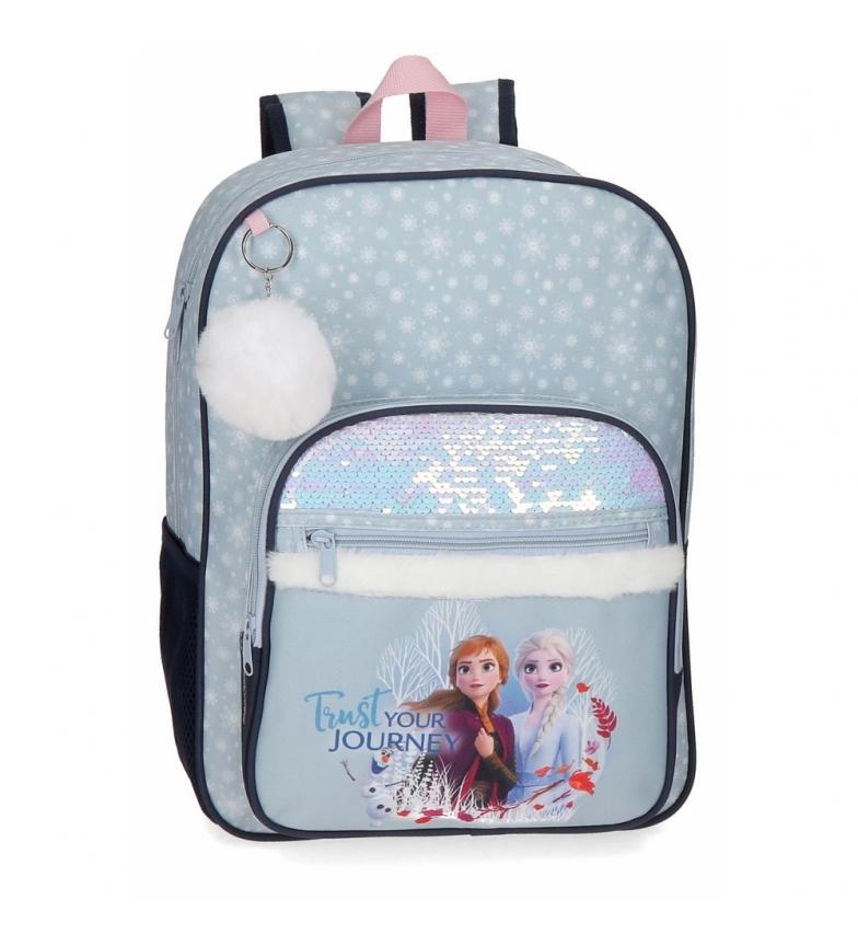 Comprar Frozen Frozen backpack with sequins Trust your journey school blue -30x38x12cm