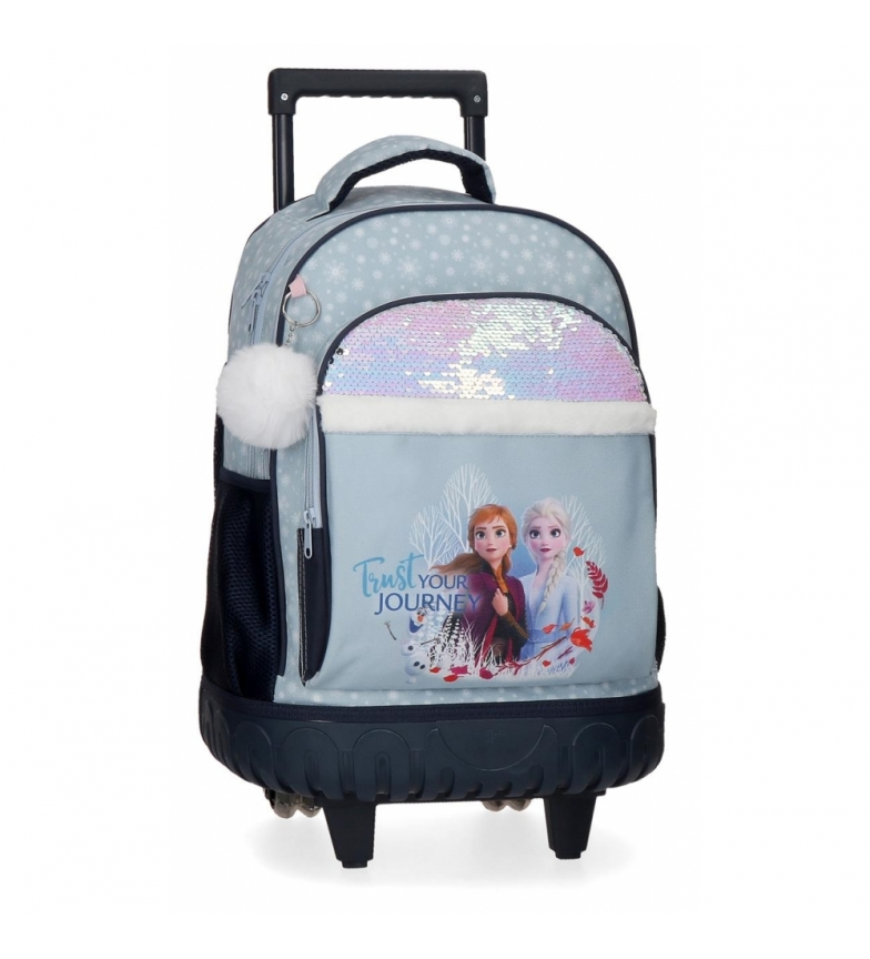 Comprar Frozen Frozen backpack with wheels Trust your journey blue -33x44x21cm