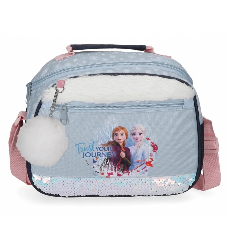 Comprar Frozen Neceser Frozen Trust your journey adaptable a trolley con bandolera azul -25x19x10cm-