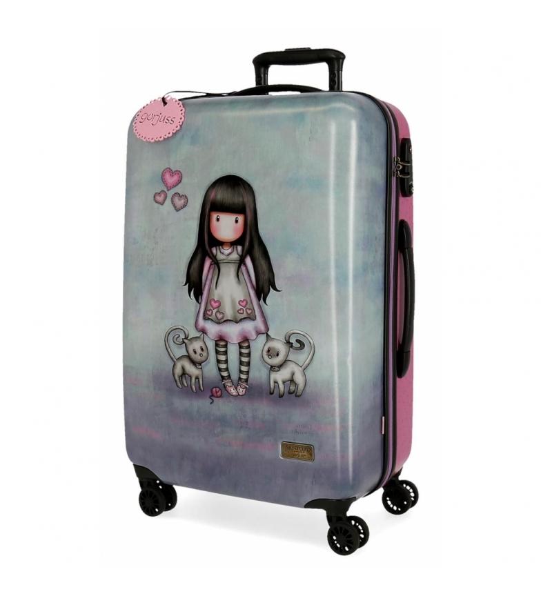Comprar Gorjuss Medium suitcase Rigid Gorjuss Tall Tails grey -45x67x26cm