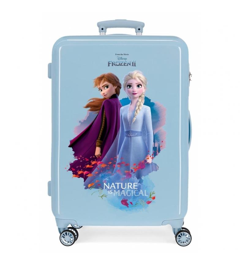Comprar Frozen Valise moyenne Nature est magique rigide rigide 61L bleu -46x65x25cm