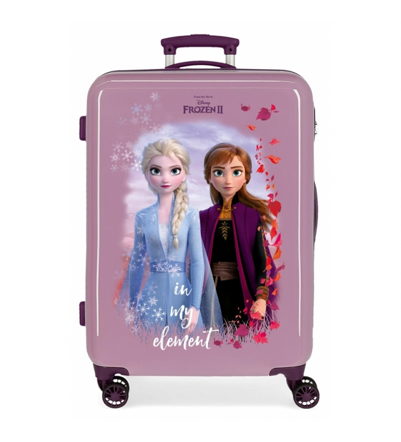 Comprar Frozen Medium Suitcase Nature is magical rigid 61L lilac -46x65x25cm