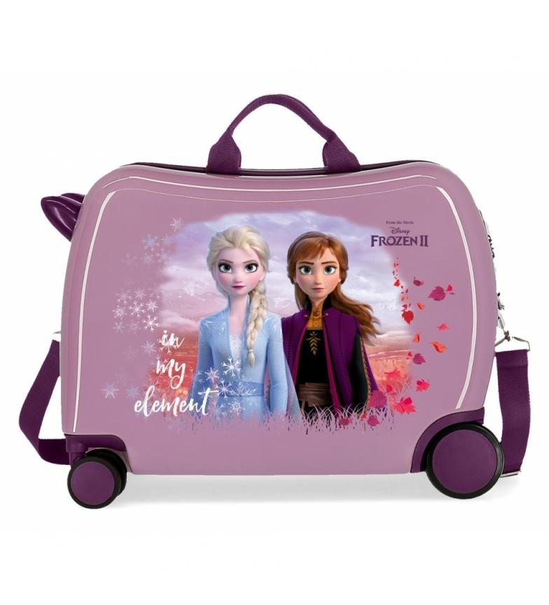 Comprar Frozen Nature est une valise magique pour enfant à roulettes multidirectionnelles lilas -38x50x20cm