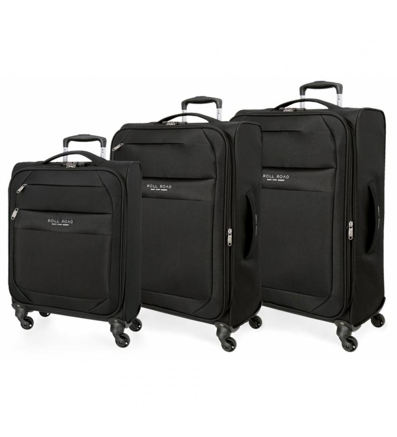Comprar Roll Road Juego de maletas Roll Road Royce 55-66-76cm Negro -40x55x20cm-
