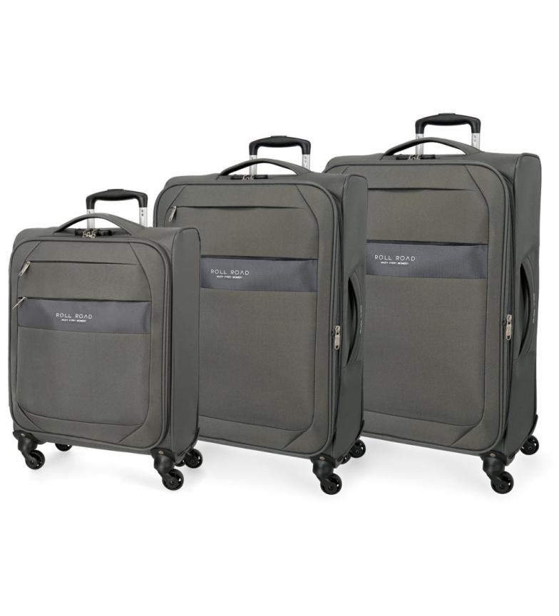 Comprar Roll Road Conjunto de bagagem Roll Road Royce 55-66-76cm Grey -40x55x55x20cm